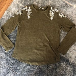 Zara Knit Autumn Green Top